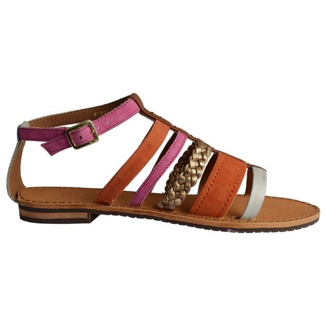 Xarashoes Sandale GEOX D SOZY E D722CE Orange-Platinum 1