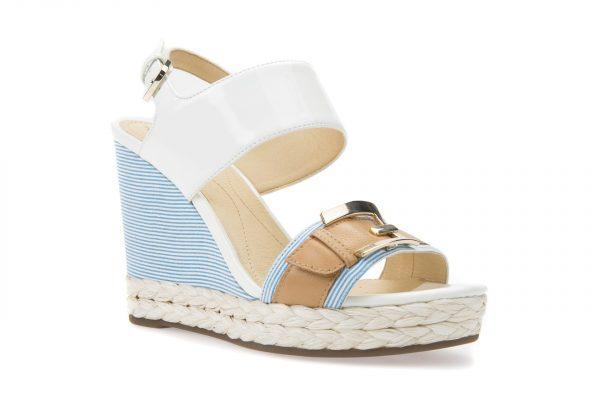 Sandale Geox D82P6E_00254_C1Z5G White/Caramel