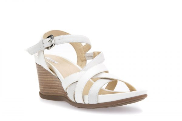 Sandale geox D828TC_0BCBN_C0588 White/Platinum