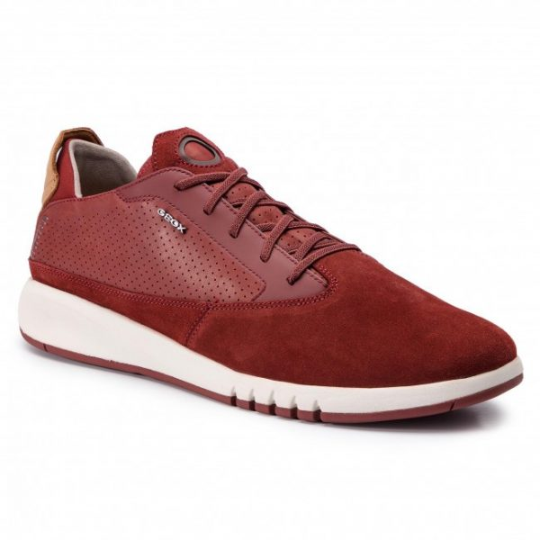 Pantofi Barbati Geox U927FA 02243 C7004 Dk Red