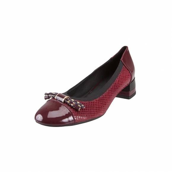 Pantofi femei GEOX D849XC 07702 C7B7J bordeaux/dk burbundy