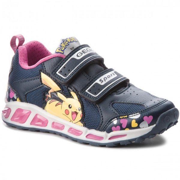 Pantofi copii GEOX J8206D 014BU C4268 S Navy/Fuchsia