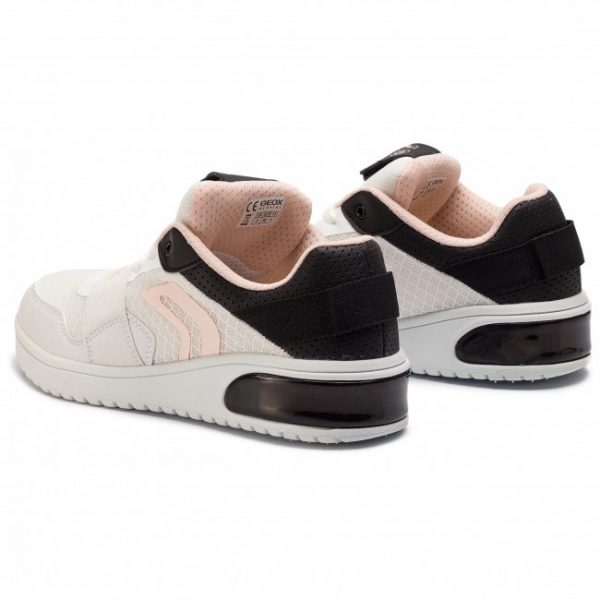 Sneakers copii GEOX XLED J928DA 014BU C0404 white/black
