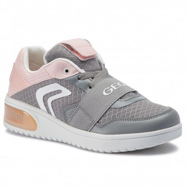 Sneakers copii GEOX J928DA 014BU C1F8W grey/lt rose